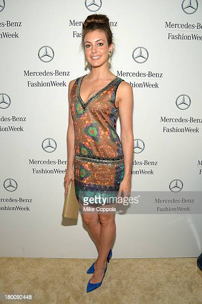 Miss USA Erin Brady attends the MercedesBenz Star Lounge during MercedesBenz Fashion Week Spring 2014 on September 8 2013 in New York City