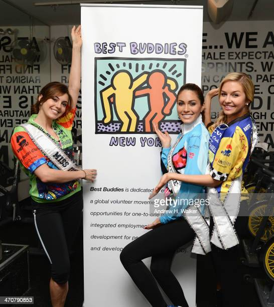 Miss USA Erin Brady Miss Universe Gabriela Isler and Miss Teen USA Cassidy Wolf attend the Best Buddies' 2nd annual 'Ride with Soul' fundraiser at...