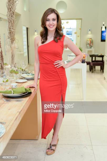 Miss USA Erin Brady poses for a picture while she shops for her bridal registry at Bernardaud Flagship Store on May 21 2014 in New York City