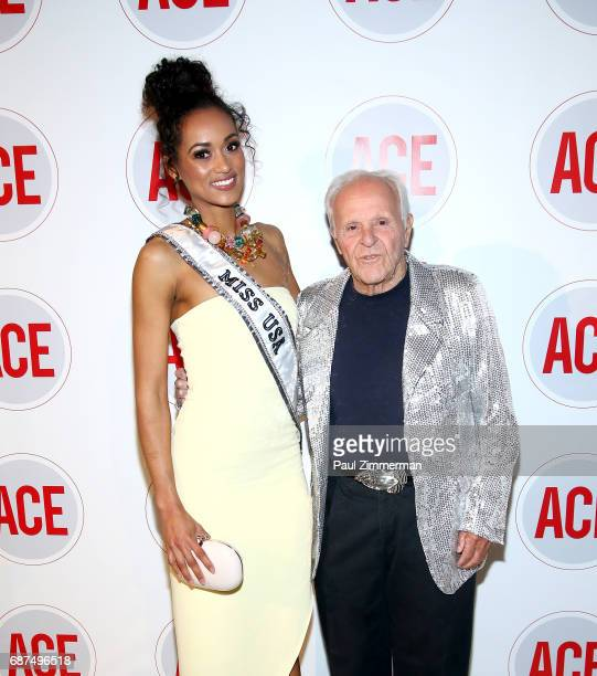 Miss USA Kara McCullough and Henry Buhl attend the 2017 ACE Gala at Capitale on May 23 2017 in New York City