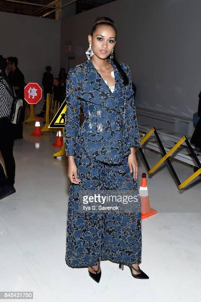 Miss USA Kara McCullough attends Jarel Zhang fashion show during New York Fashion Week The Shows at Gallery 3 Skylight Clarkson Sq on September 10...