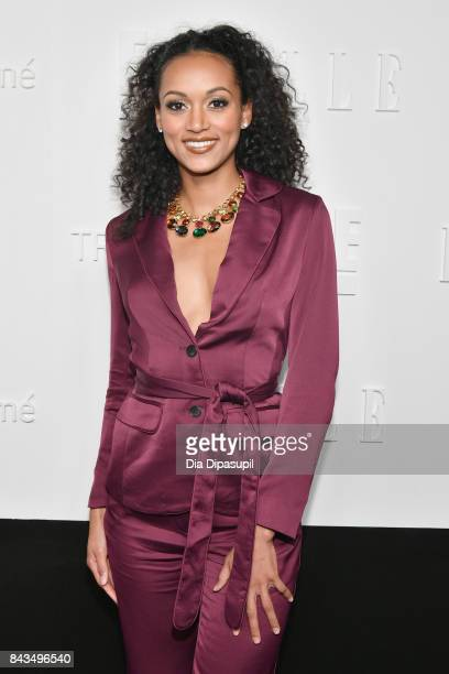 Miss USA Kara McCullough attends the NYFW Kickoff Party A Celebration Of Personal Style hosted by E ELLE IMG and sponsored by TRESEMME on September 6...