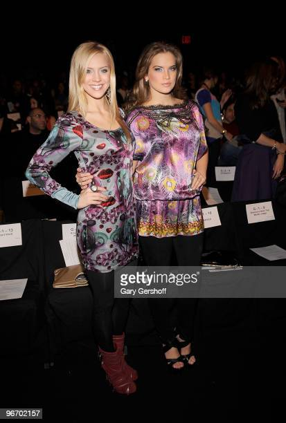 Miss USA Kristen Dalton and Miss Teen USA Stormi Henley attends the Custo Barcelona Fall 2010 during MercedesBenz Fashion Week at Bryant Park on...