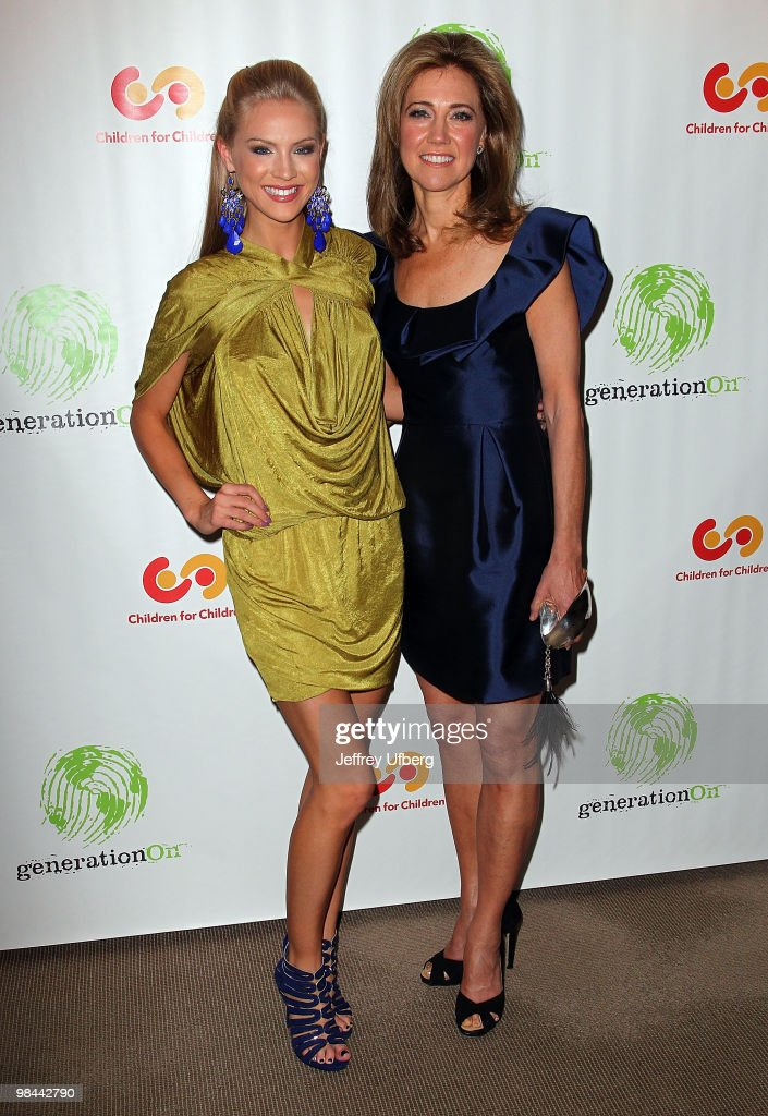 Miss USA Kristen Dalton and Silda Spitzer attend the 9th annual The Art Of Giving benefit by Children For Children at Christie's on April 13 2010 in...
