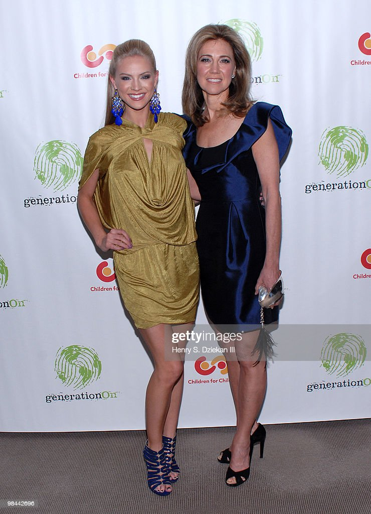 Miss USA Kristen Dalton and Silda Wall Spitzer attend the 9th annual The Art Of Giving benefit by Children For Children at Christie's on April 13...