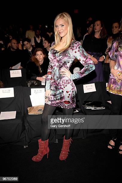 Miss USA Kristen Dalton attends the Custo Barcelona Fall 2010 during MercedesBenz Fashion Week at Bryant Park on February 14 2010 in New York City