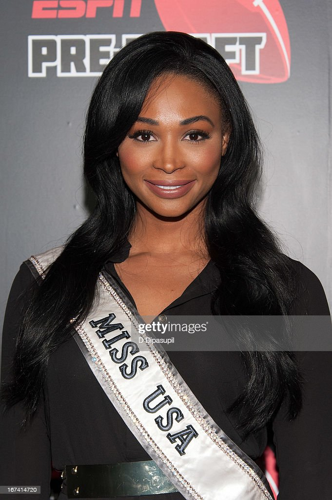 Miss USA Nana Meriwether attends the ESPN The Magazine 10th annual Pre-Draft Party at The IAC Building on April 24, 2013 in New York City.
