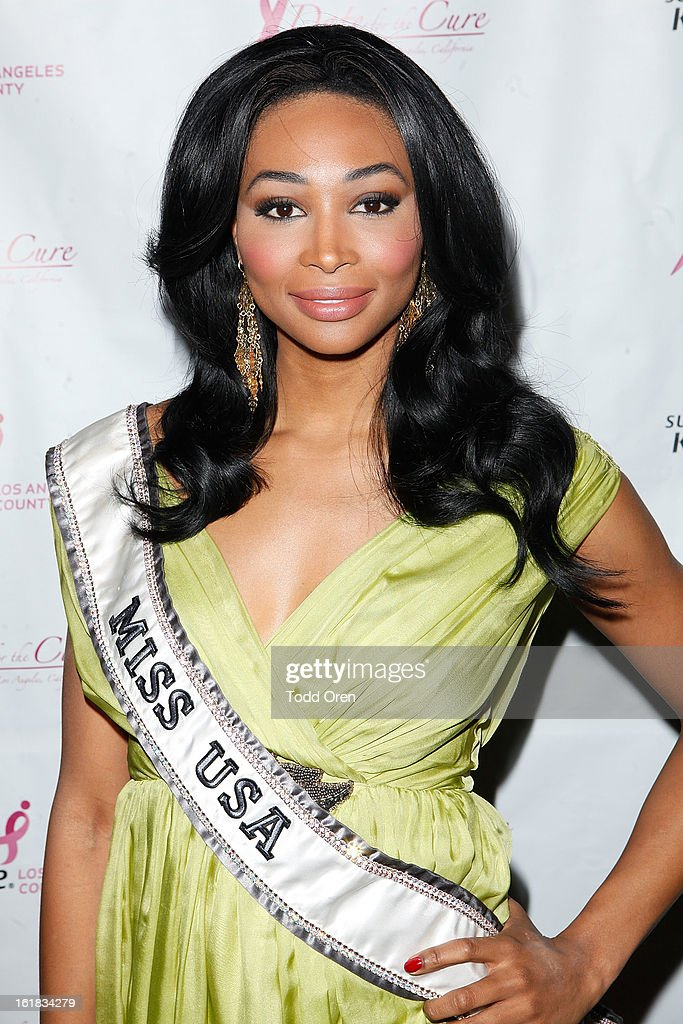 Miss USA Nana Meriwether poses at the Date for the Cure To Benefit Susan G. Komen For The Cure on February 16, 2013 in Universal City, California.