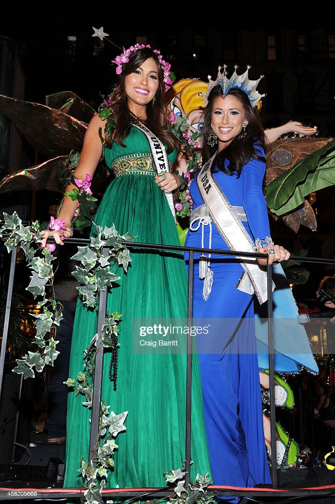 Miss USA Nia Sanchez and Miss Universe Gabriela Isler attend the Rubenstein Public Relations Features Never Never Land Float In the 41st Annual NYC...