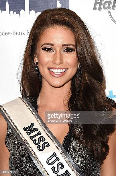 Miss USA Nia Sanchez attends a tribute to Nick Cannon benefiting St Mary's Healthcare System For Children at Hard Rock Cafe Times Square on October...