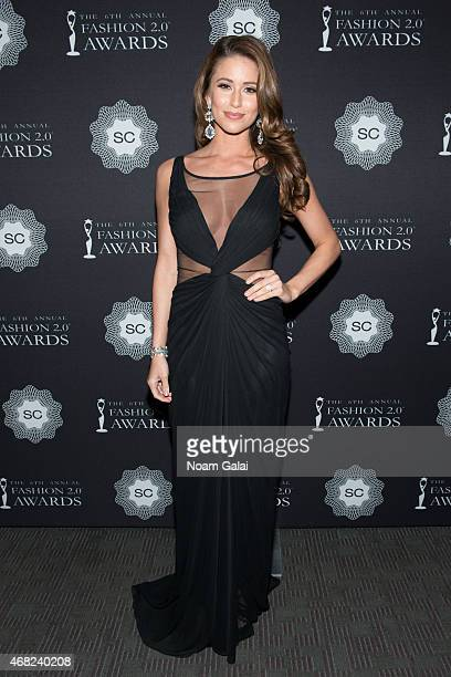 Miss USA Nia Sanchez attends the 2015 Fashion 20 Awards at Merkin Concert Hall on March 31 2015 in New York City
