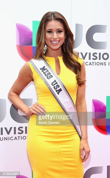 Miss USA Nia Sanchez attends Univision's 2015 Upfront at Gotham Hall on May 12 2015 in New York City