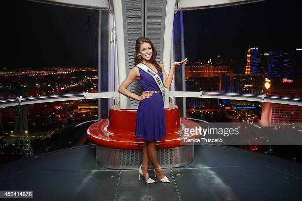 Miss USA Nia Sanchez rides the High Roller at The LINQ In Las Vegas on July 19 2014 in Las Vegas Nevada