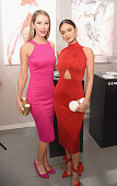 Miss USA Olivia Jordan and Miss Universe Pia Wurtzbach attend the Gemfields Event at Fall 2016 New York Fashion Week at Skylight Clarkson Sq on...