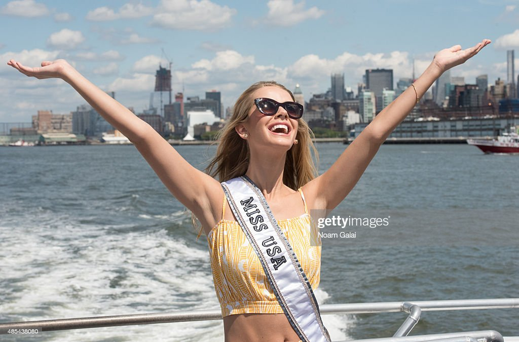 Miss Universe Paulina Vega, Miss USA Olivia Jordan And Miss Teen USA Katherine Haik Welcome To New York City Photo Op
