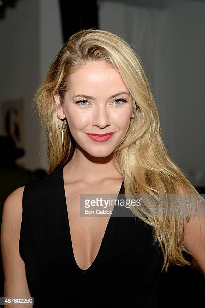 Miss USA Olivia Jordan attends the Australian Evening Bridal Wear Fashion Show during Spring 2016 New York Fashion Week at Pier 59 on September 10...