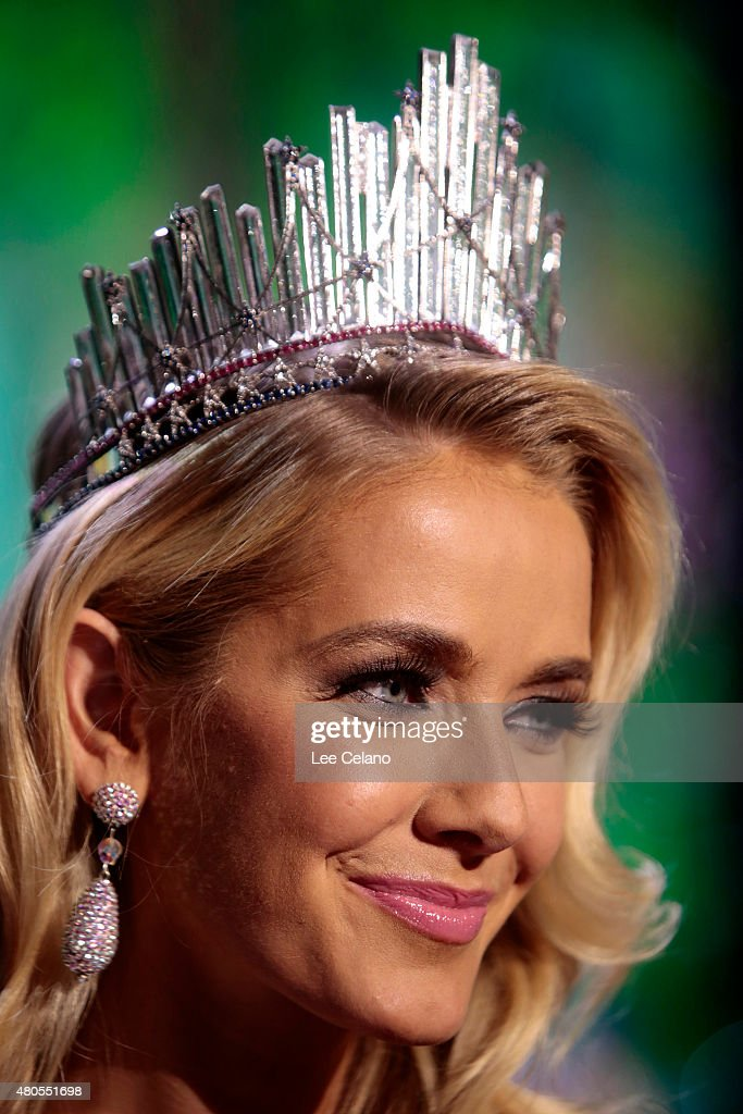Miss USA Olivia Jordan of Oklahoma on stage at the 2015 Miss USA Pageant Only On ReelzChannel at The Baton Rouge River Center on July 12, 2015 in Baton Rouge, Louisiana.