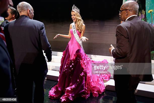 Miss USA Olivia Jordan of Oklahoma onstage at the 2015 Miss USA Pageant Only On ReelzChannel at The Baton Rouge River Center on July 12 2015 in Baton...