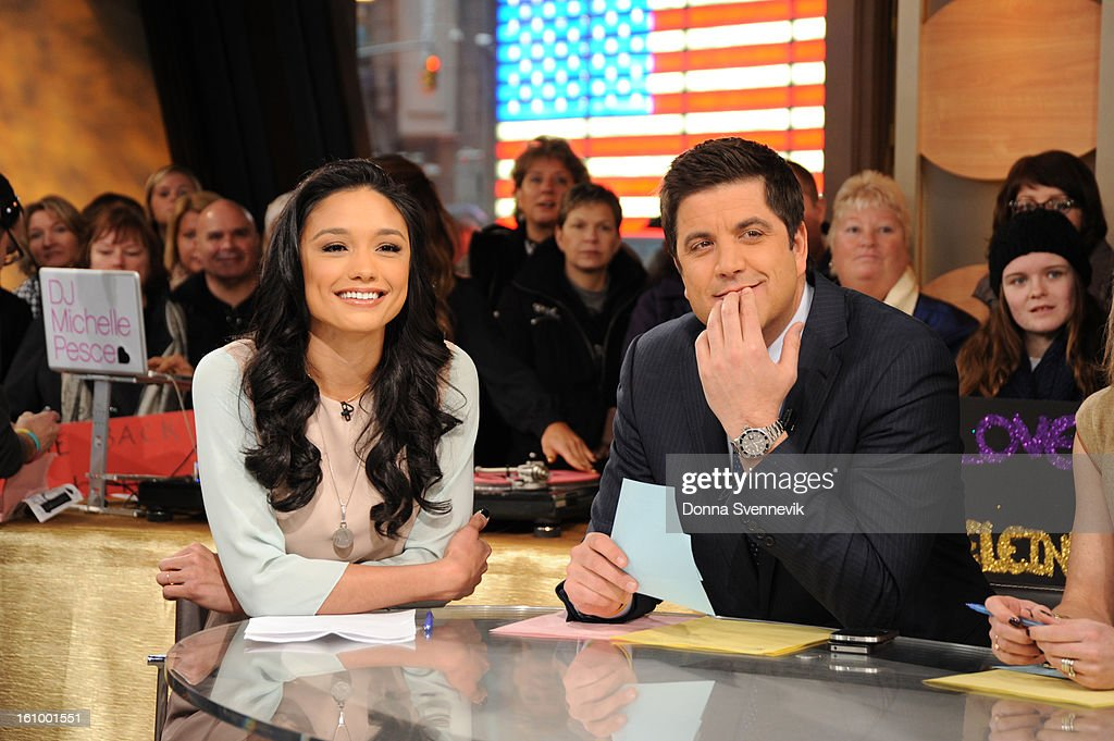 Miss USA pageant winner Rachel Smith is a guest on 'Good Morning America,' 2/8/13, airing on the ABC Television Network. (Photo by Donna Svennevik/Disney-ABC via Getty Images)RACHEL SMITH, JOSH ELLIOTT
