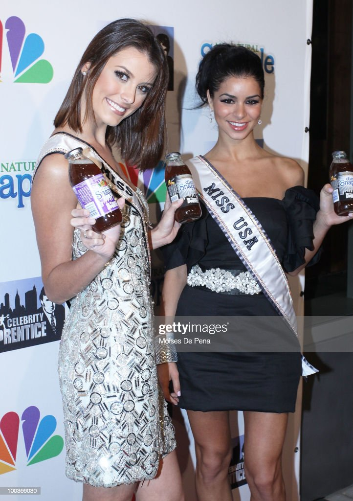 Miss USA Rima Fakih and Miss Universe Stefania Fernandez attend 'The Celebrity Apprentice' Season 3 finale after party>> at the Trump SoHo on May 23, 2010 in New York City.