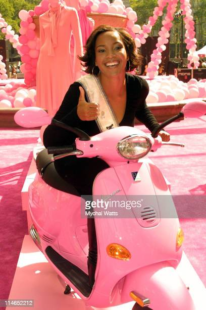 Miss USA Shauntay Hinton during Jewel Celebrates the 10th Anniversary of Self Magazine's 'Pink Ribbon' at Bryant Park 42nd St in New York New York