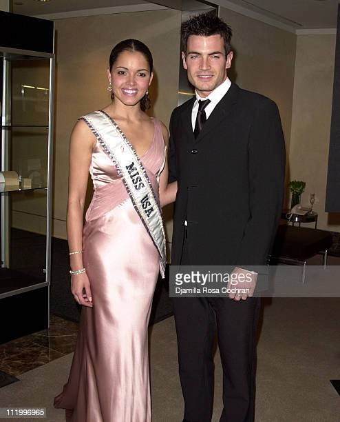 Miss USA Susie Castillo and Aiden Turner during Garland Appeal Gala in New York City at Christie's in New York City New York United States