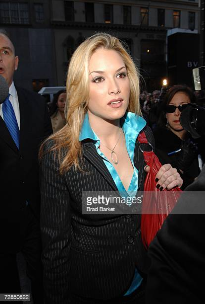 Miss USA Tara Conner arrives to the Trump Tower on December 19 2006 in New York City Developer Donald Trump who owns the Miss USA Pagent decided not...