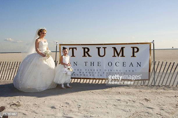 Miss USA Tara Conner returns to work after visiting rehab and poses for 'Trump on the Ocean' advertising campaign in freezing weather on February 6...