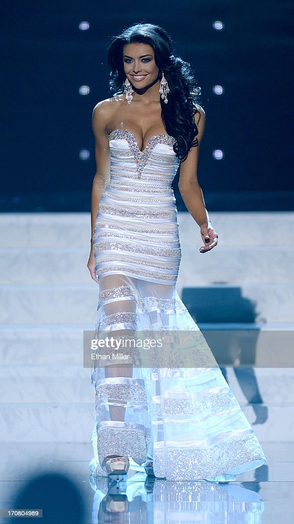 Miss Utah USA Marissa Powell competes in the evening gown competition during the 2013 Miss USA pageant at PH Live at Planet Hollywood Resort & Casino on June 16, 2013 in Las Vegas, Nevada.