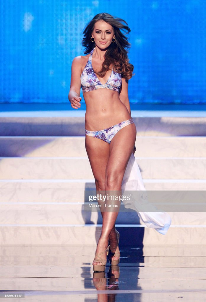 Miss Venezuela 2012 Irene Sofia Esser Quintero competes in the swimsuit competiton during the 2012 Miss Universe Pageant at Planet Hollywood Resort & Casino on December 19, 2012 in Las Vegas, Nevada.