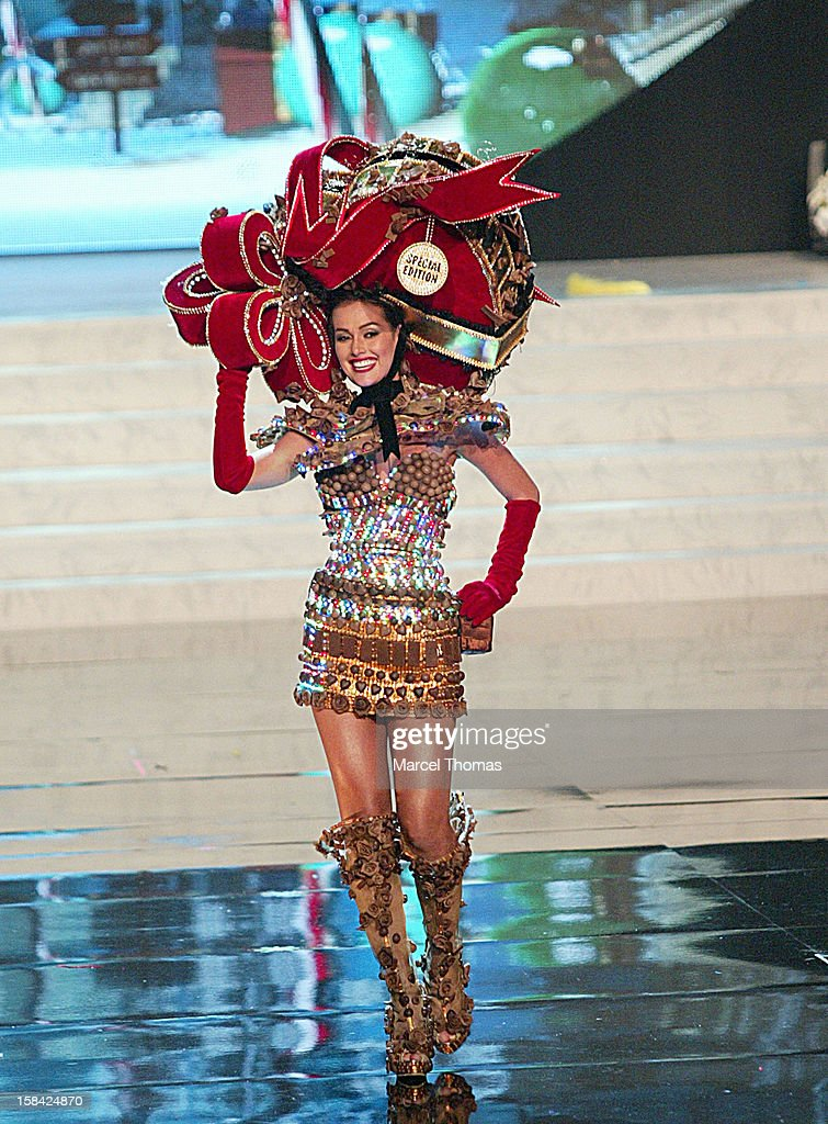Miss Venezuela Irene Sofia Esser Quintero displays her national costume at the 2012 Miss Universe National Costume event at Planet Hollywood Casino Resort on December 14, 2012 in Las Vegas, Nevada.