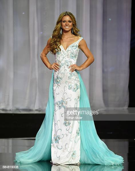 Miss Vermont Teen USA 2016 Tammy Vujanovic competes in the evening gown competition during the 2016 Miss Teen USA Competition at The Venetian Las...