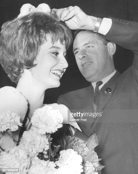 Miss Wool Crowned Gov John A Love crowns Colleen Francis of 696 Monroe Way Miss Wool of Colorado for 1963 The crowning took place Thursday night at...