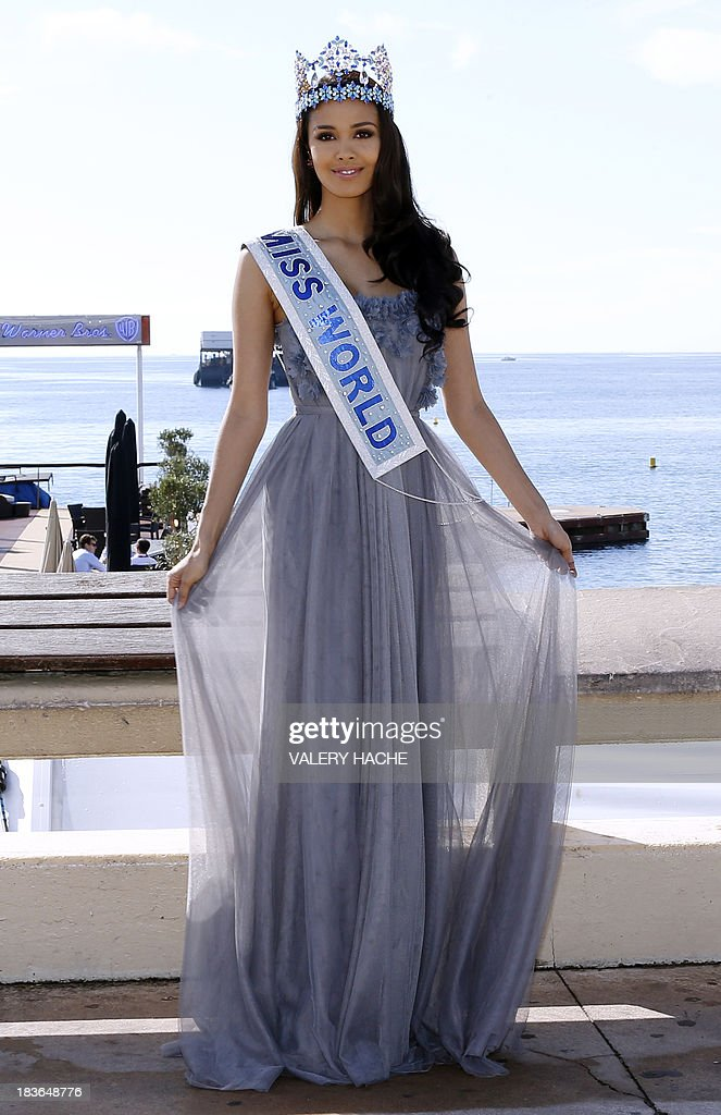 Miss World 2013 <a gi-track='captionPersonalityLinkClicked' href=/galleries/search?phrase=Megan+Young&family=editorial&specificpeople=7864923 ng-click='$event.stopPropagation()'>Megan Young</a> poses during a photocall as part of the MIPCOM audiovisual trade fair on October 8, 2013 in Cannes, southeastern France. AFP PHOTO / VALERY HACHE