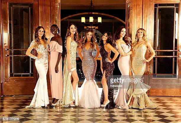 MELBOURNE VIC Miss World Australia Finalists Esma Voloder Magnolia Maymuru Madeleine Cowe Isobel Ramsay Tiana DellaPutta AmyLee Dixon and Jayde Young...