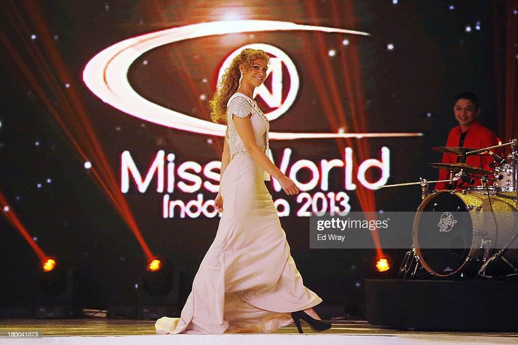 A Miss World contestant performs during the Miss World 2013 Indonesia opening show on September 8, 2013 in Nusa Dua, Indonesia. Indonesia's government has moved the final round of the Miss World pageant from main Java island to the resort island of Bali due to the ongoing Muslim protests.