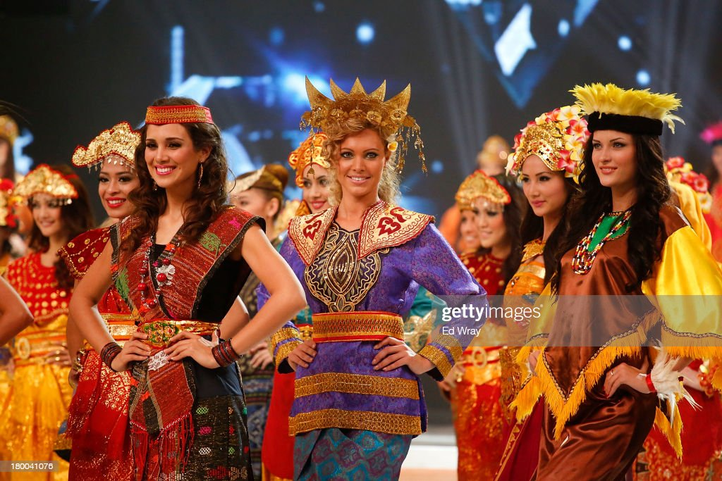 Miss World contestants perform during the Miss World 2013 Indonesia opening show on September 8, 2013 in Nusa Dua, Indonesia. Indonesia's government has moved the final round of the Miss World pageant from main Java island to the resort island of Bali due to the ongoing Muslim protests.