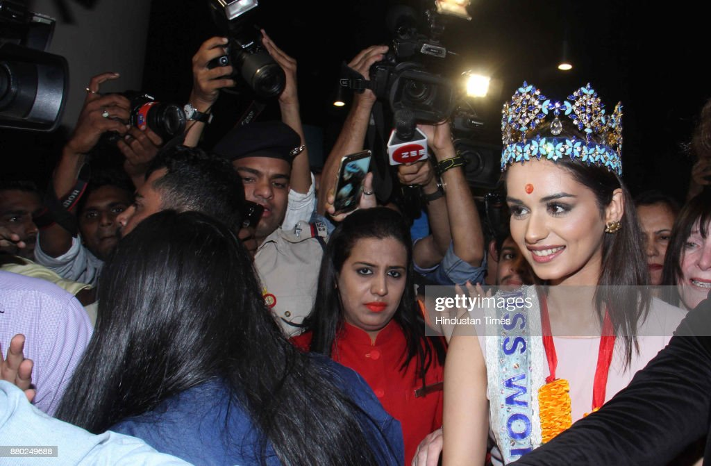 The Official Thread of Miss World 2017 ® Manushi Chhillar - India - Page 2 Miss-world-winner-manushi-chhillar-arrives-at-chhatrapati-shivaji-picture-id880249688