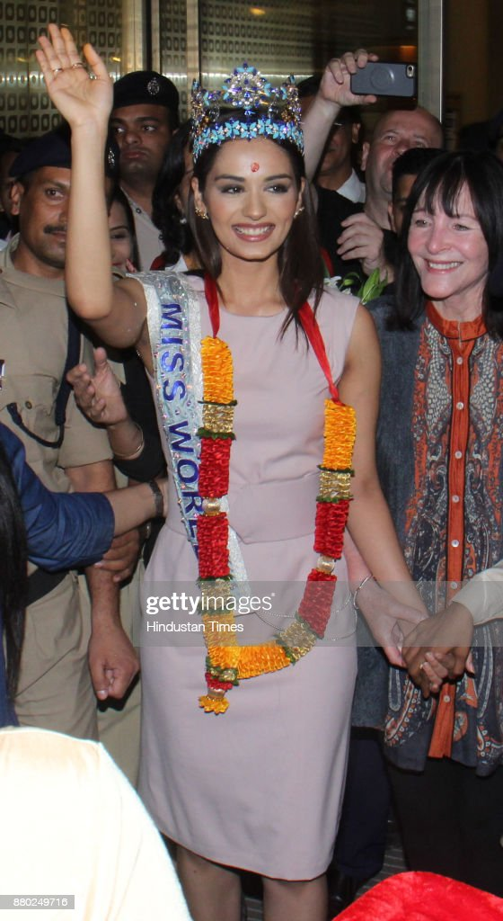 The Official Thread of Miss World 2017 ® Manushi Chhillar - India - Page 2 Miss-world-winner-manushi-chhillar-arrives-at-chhatrapati-shivaji-picture-id880249716