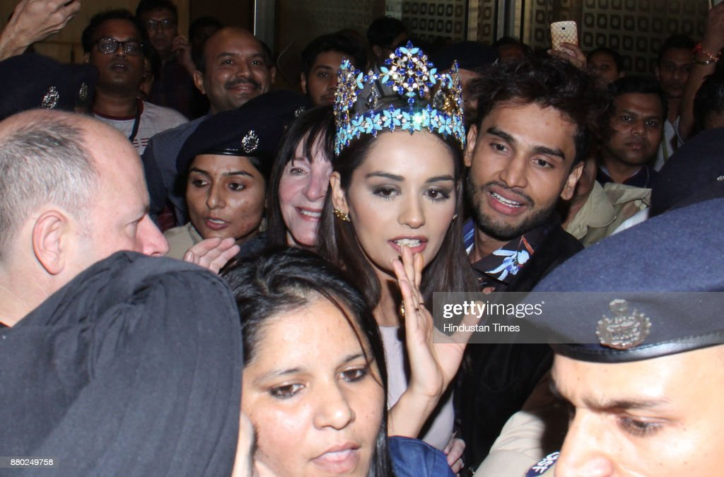 The Official Thread of Miss World 2017 ® Manushi Chhillar - India - Page 2 Miss-world-winner-manushi-chhillar-arrives-at-chhatrapati-shivaji-picture-id880249758
