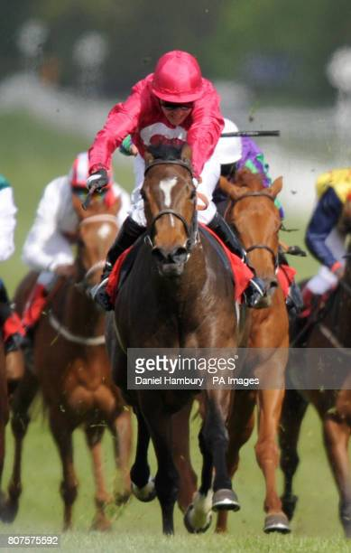 Miss Zooter ridden by Jim Crowley goes on to win the Bet Live In Play At totesportcom Fillies' Handicap at Newbury Racecourse