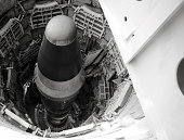 Looking down on a titan missle inside an underground silo