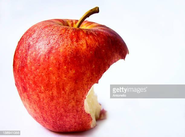 Missing bite of apple