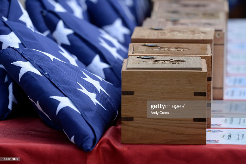 Missing in America Project interned the unclaimed remains of 30 WWII, Korea, and Vietnam Veterans at the Ft. Logan National Cemetery of June 25, 2016.