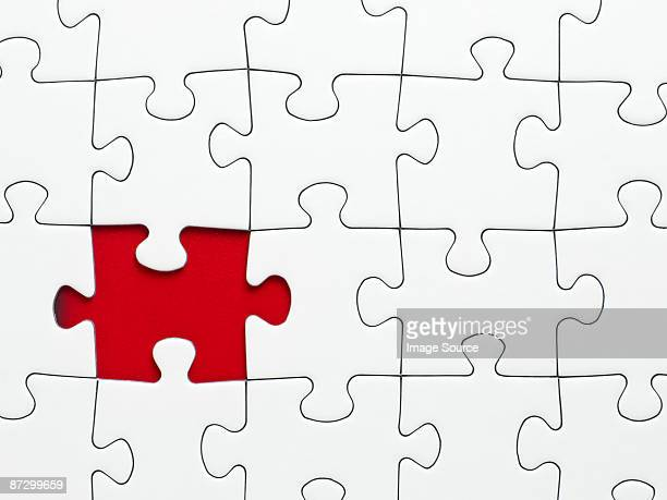 A missing piece from a jigsaw