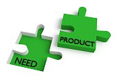 Missing puzzle piece, need and product, green
