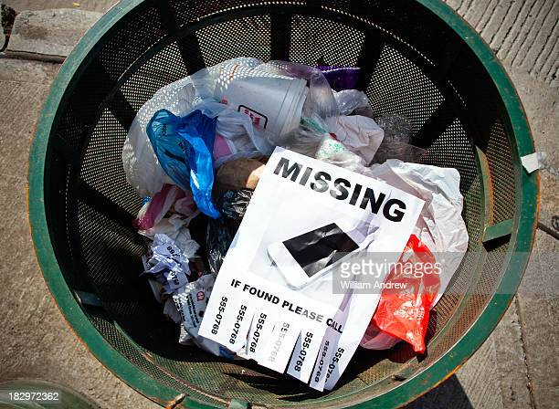 Missing smart phone sign in garbage