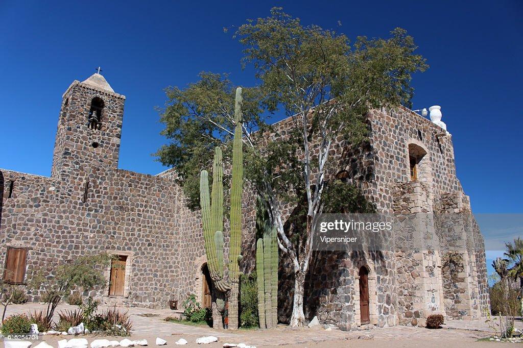 Mission de Santa Rosalía de Mulegé : Foto de stock