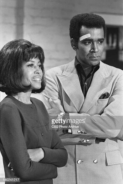 Mission Impossible episode 'Cat's Paw' featuring from left Abbey Lincoln as Millie Webster and Greg Morris as Barney Collier Image dated October 7...