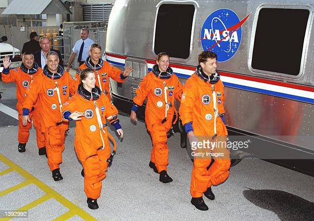 Mission STS112 crew pilot Pamela Melroy Mission Specialists David Wolf Fyodor Yurchikhin Commander Jeffrey Ashby Mission Specialists Sandra Magnus...